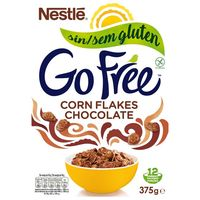 Corn Flakes de chocolate NESTLE Go Free, caja 375 g