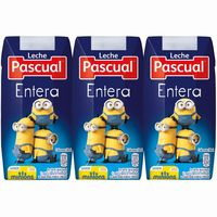 Leche Entera Minions PASCUAL, pack 3x200 ml