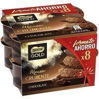 Mousse de chocolate NESTLÉ Gold, pack 8x57 g