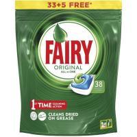 Lavavajillas máquina s. fosfatos FAIRY Todo en 1, bolsa 38 dosis