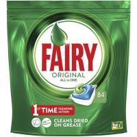 Lavavajillas máquina s. fosfatos FAIRY Todo en 1, bolsa 84 dosis
