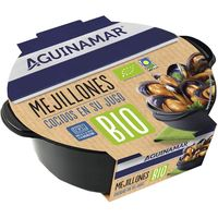 Mejillón Bio cocido ANGULAS AGUINAMAR, bandeja 400 g