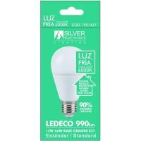 Bombilla Led eco estándar E27 12W luz fría (6500k) SILVER, 1ud