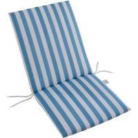 Cojin monoblock Ibiza, rayas turquesa, lazos poliéster relleno espuma, 90x42x3 cm