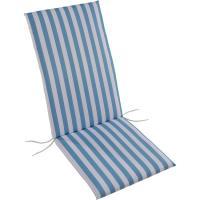 Cojin multiposición Ibiza, rayas turquesa, lazos, relleno espuma, 120x45x4 cm