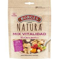 Cocktail frutos secos-rojos BORGES Natura, bolsa 115 g