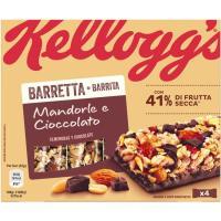 Barrita de almendra-chocolate KELLOGG`S, caja 128 g