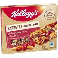 Barrita de almendra-fruta KELLOGG`S, caja 128 g