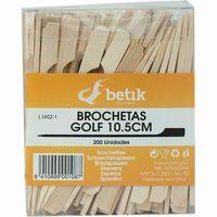 Brocheta de madera golf 10,5 cm BETIK, paquete 200 uds.