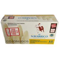 Espárrago extra 6/8 frutos IGP Navarra NAVARRICO, lata 250 g