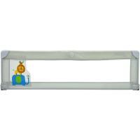 Barrera de cama gris. Abatible, fácil de instalar debajo del colchón con un sistema de seguridad de correas extensibles para impedir el desplazamiento de la barrera. Fácil de usar y guardar gracias a su plegado y bolsa de transporte ASALVO, 150cm