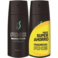 Desodorante para hombre Apollo AXE, pack 2x150 ml