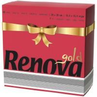 Servilleta de papel roja 2 capas RENOVA, paquete 40 uds.