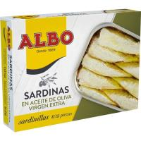 Sardinilla en aceite de oliva virgen ALBO, lata 105 g