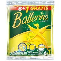 Bayeta amarilla BALLERINA, pack 6+1 unid.