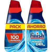 Lavavajillas máquina gel FINISH, pack 2x50 dosis