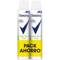 Desodorante de aloe vera REXONA, pack 2x200 ml