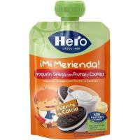 Bolsita de yogur griego con cookies HERO, doypack 100 ml