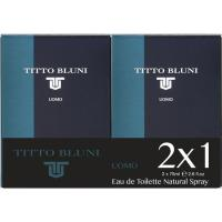Colonia para hombre TITTO BLUNI, pack 2x75 ml