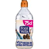 Agua mineral natural FONT VELLA,  tapón sport 75 cl
