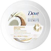 Crema coporal con aceite de coco y almendras DOVE, tarro 250 ml