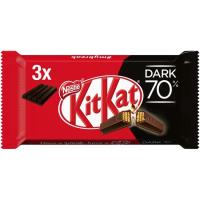 Barritas de chocolate negro 70% KIT KAT, pack 3x41 g