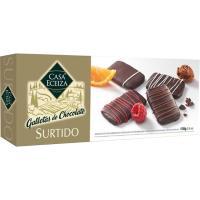 Surtido de galletas de chocolate CASA ECEIZA, caja 100 g