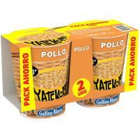 Fideos orientales de pollo YATEKOMO, cup pack 2x60 g