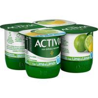 Activia de lima-limón 0% DANONE, pack 4x120 g