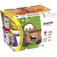 Yogur sabor fresa-maced-plátano-vainilla DANONE, pack 12x125 g