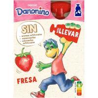 Danonino para llevar de fresa DANONE, pack 4x70 g