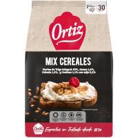 Pan tostado multicereal ORTIZ, 30 rebanadas, paquete 288 g