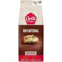 Pan tostado integral ORTIZ, 60 rebanadas, paquete 648 g