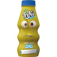 Refresco sin gas mini de limón zero TRINA, lata 27,5 cl ml