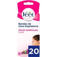 Banda facial easy gelwax piel normal VEET,20u