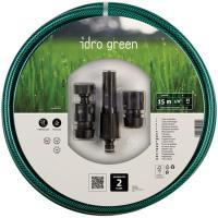 Manguera de 15 mm Ø, 15m, con lanza, conectores de inicio y fin Idro Green FITT, 1ud