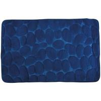 Alfombra para baño microfibra piedras azul marino COTEXSA, 40X60cm