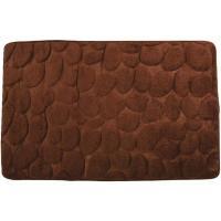 Alfombra àra baño microfibra piedras chocolate COTEXSA, 40X60cm