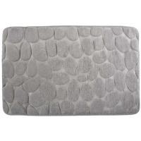 Alfombra para baño microfibra piedras gris COTEXSA, 40X60cm