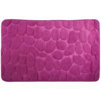 Alfombra para baño microfibra piedras violeta COTEXSA, 40X60cm