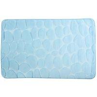 Alfombra para baño microfibra piedras azul COTEXSA, 40X60