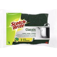 Estropajo fibra verde classic 3 capas SCOTCH BRITE, pack 1unid.