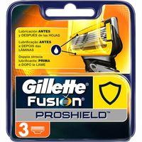 Cargador de afeitar GILLETTE Fusión Proshield, pack 3 uds.