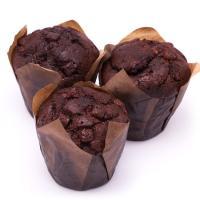 Muffin doble cacao EROSKI, bandeja 3 unid.