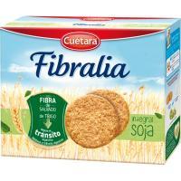 Galleta Fibralia integral con soja CUÉTARA, caja 550 g