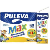 Leche de Crecimiento PULEVA Max, pack 3x200 ml