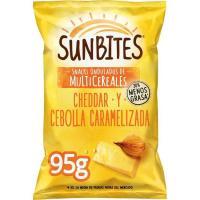 Snack cheddar-cebolla caramelizada SUNBITES, bolsa 95 g