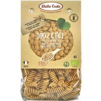 Pasta Fusilli 100% garbanzos DALLA COSTA, paquete 250 g