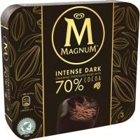Bombón Intense Dark MAGNUM, 3 unid., caja 222 g