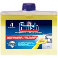 Limpia máquinas lavavajillas limón FINISH, botella 250 ml